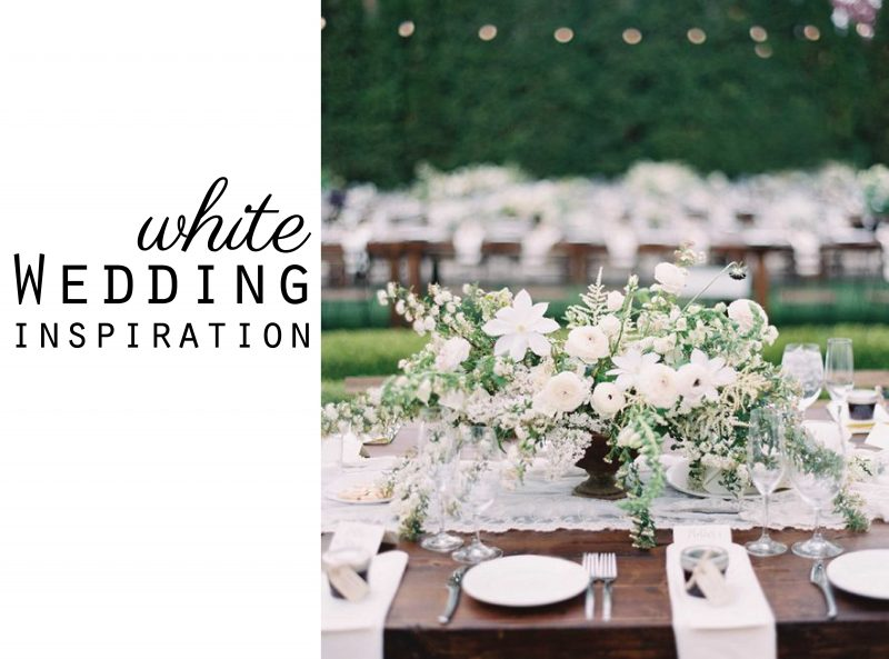 White Wedding Colour Inspiration Moodboard