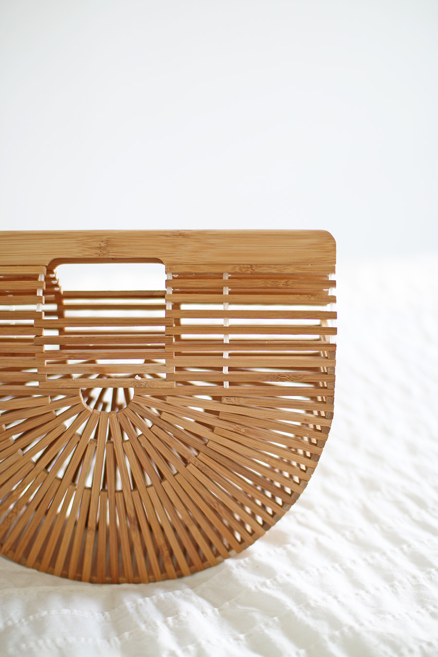 Cult Gaia Bamboo Ark Clutch Purse, Spring Summer Fashion Style by Blogger A Side Of Vogue