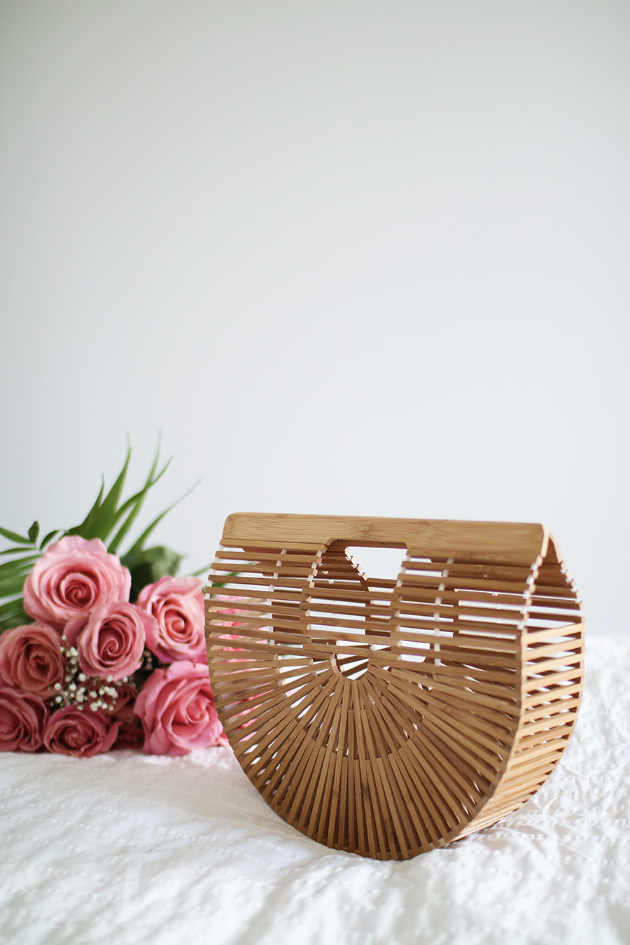 Cult Gaia Ark Clutch, Bamboo Handbag, Spring Summer Fashion via A Side Of Vogue