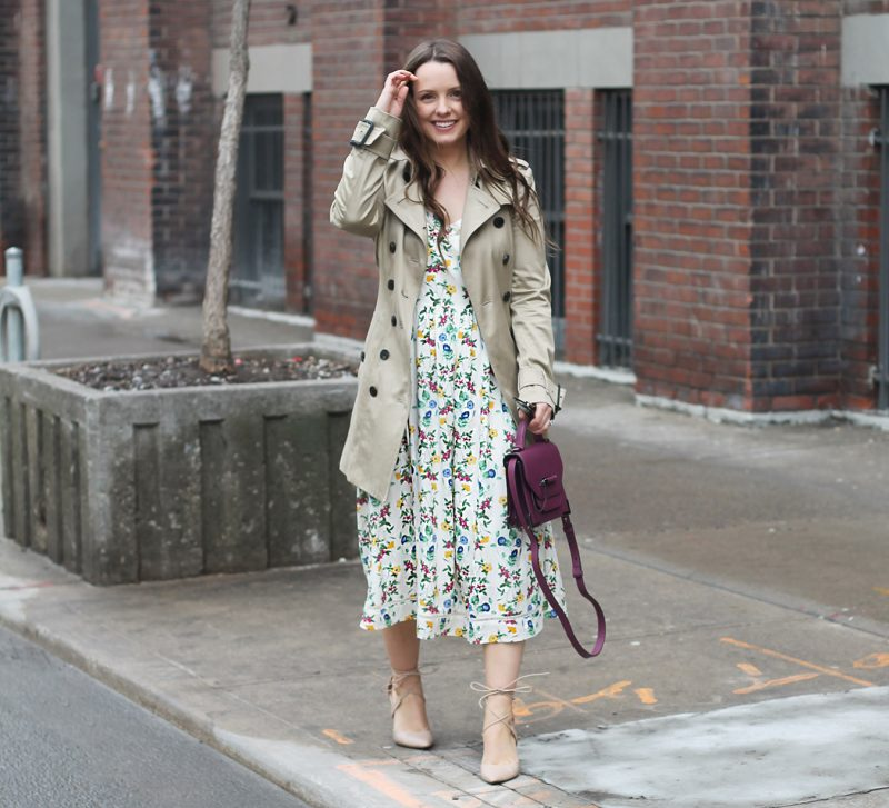 Outfit // Floral Midi Dress