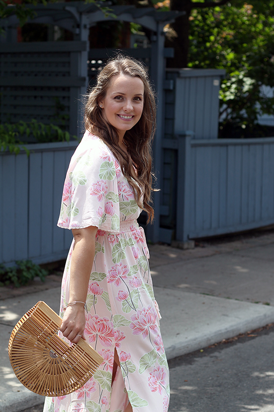 Outfit Pink Maxi Dress A Side Of Vogue