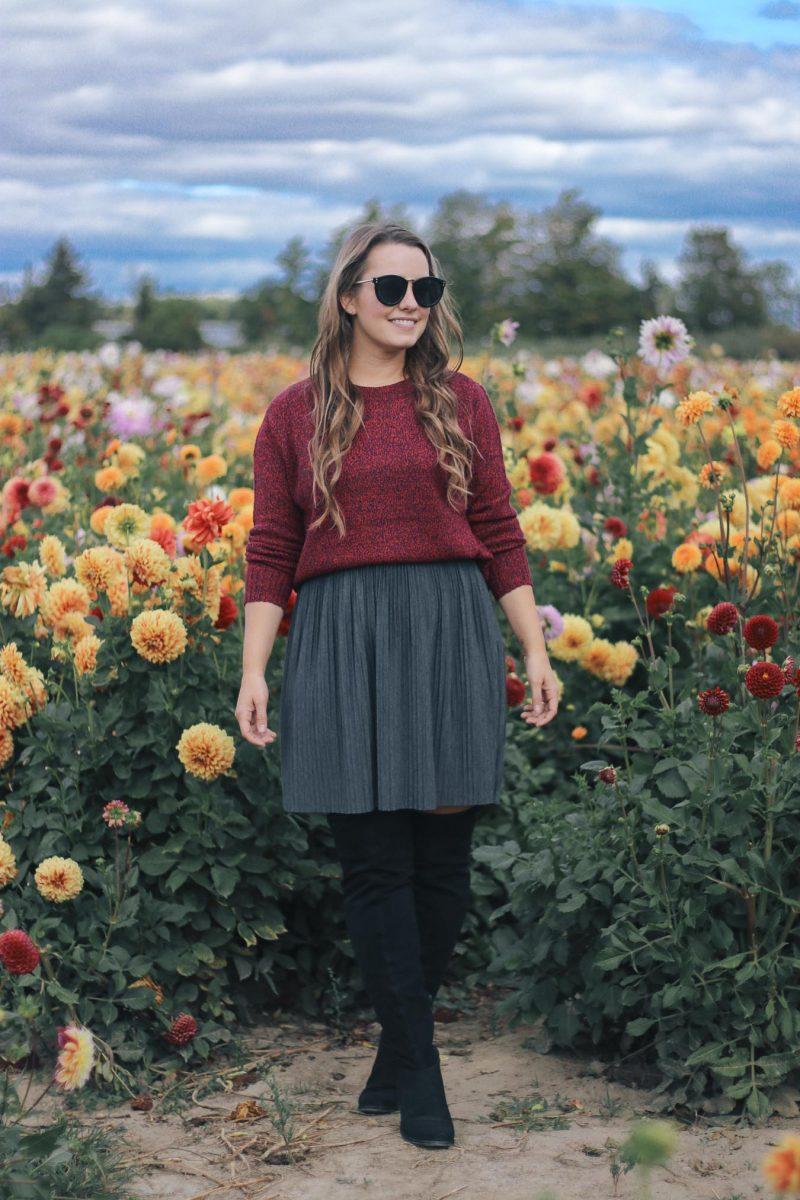 Outfit // Dahlia Flower Fields (near Toronto)