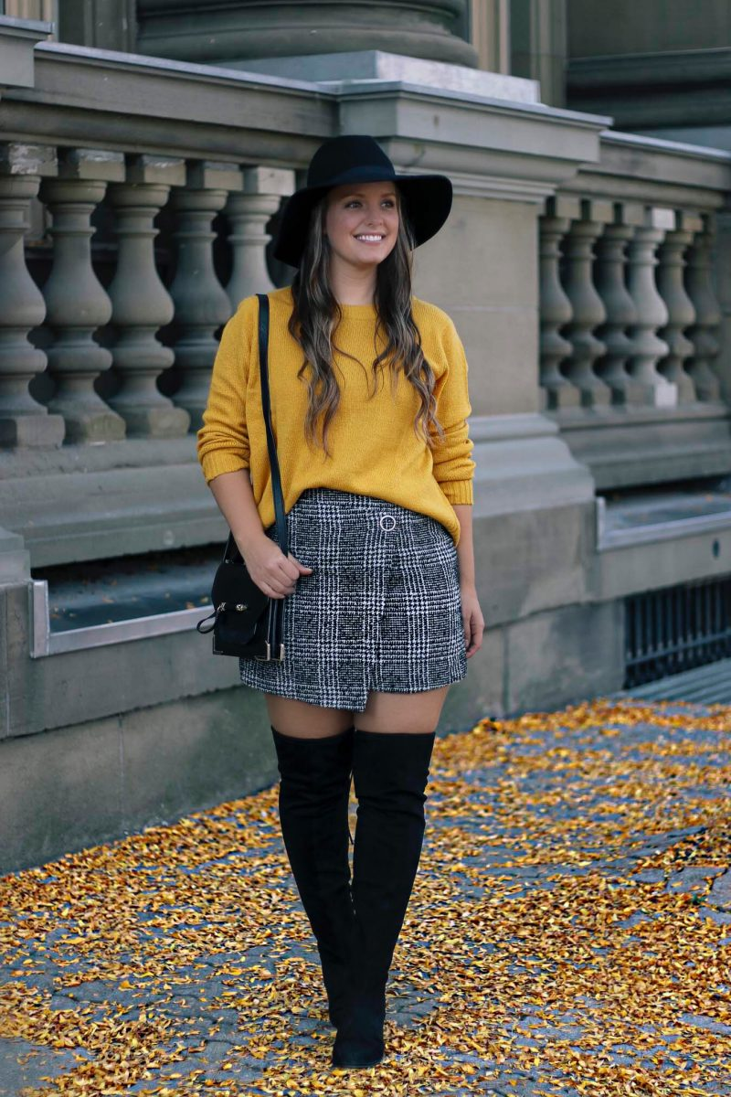 Outfit // Mustard Yellow & Tweed