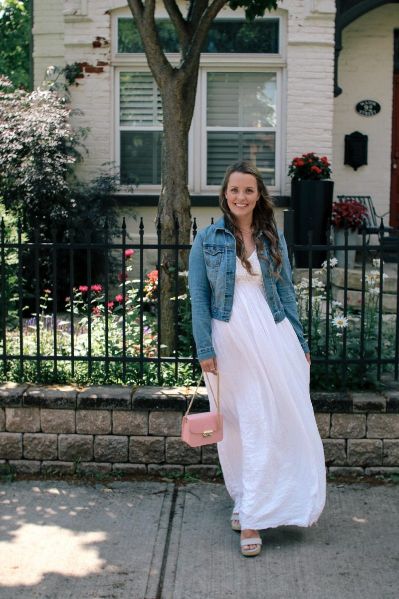 Outfit // White Maxi Dress