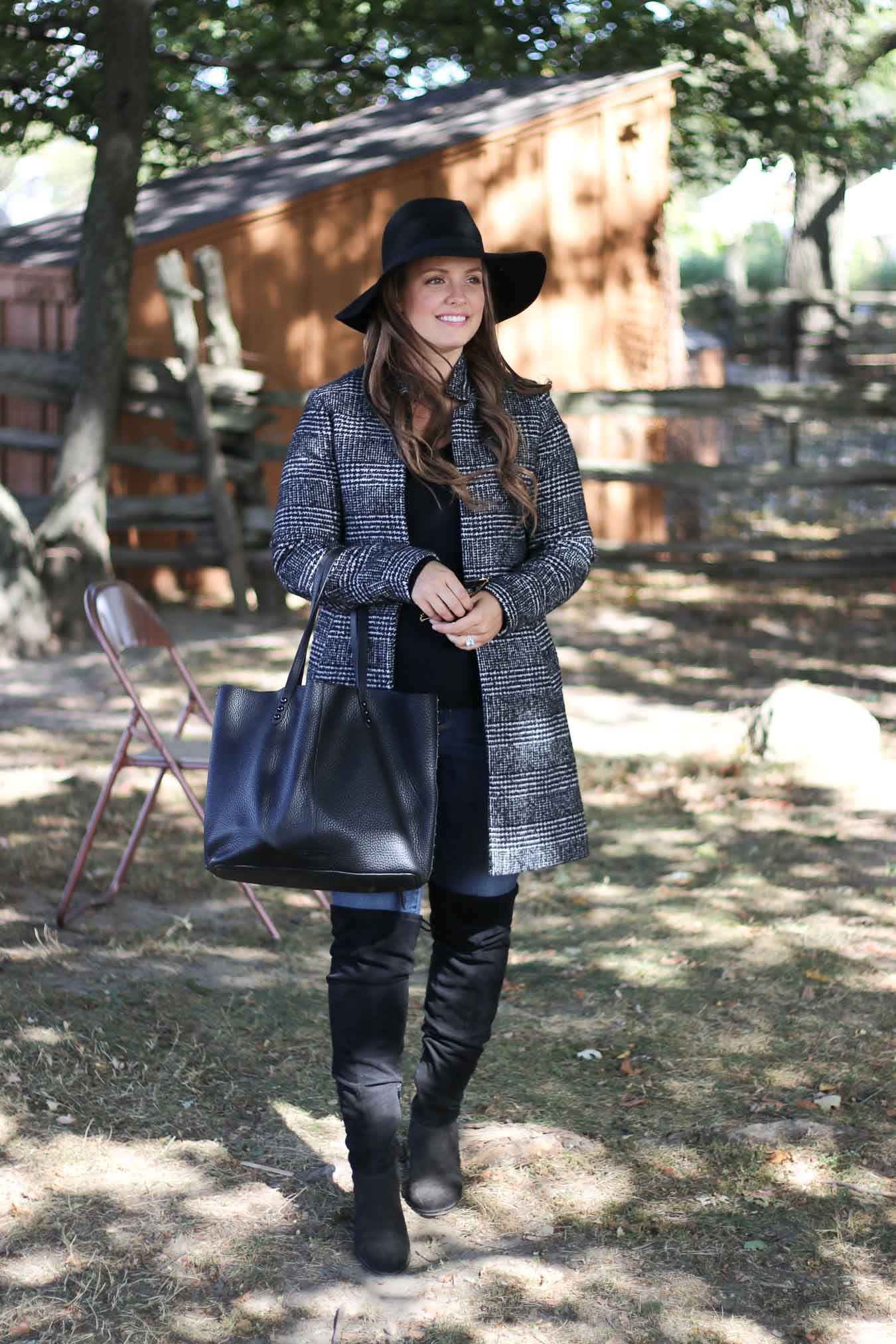How To Wear A Plaid Coat // Outfit Ideas