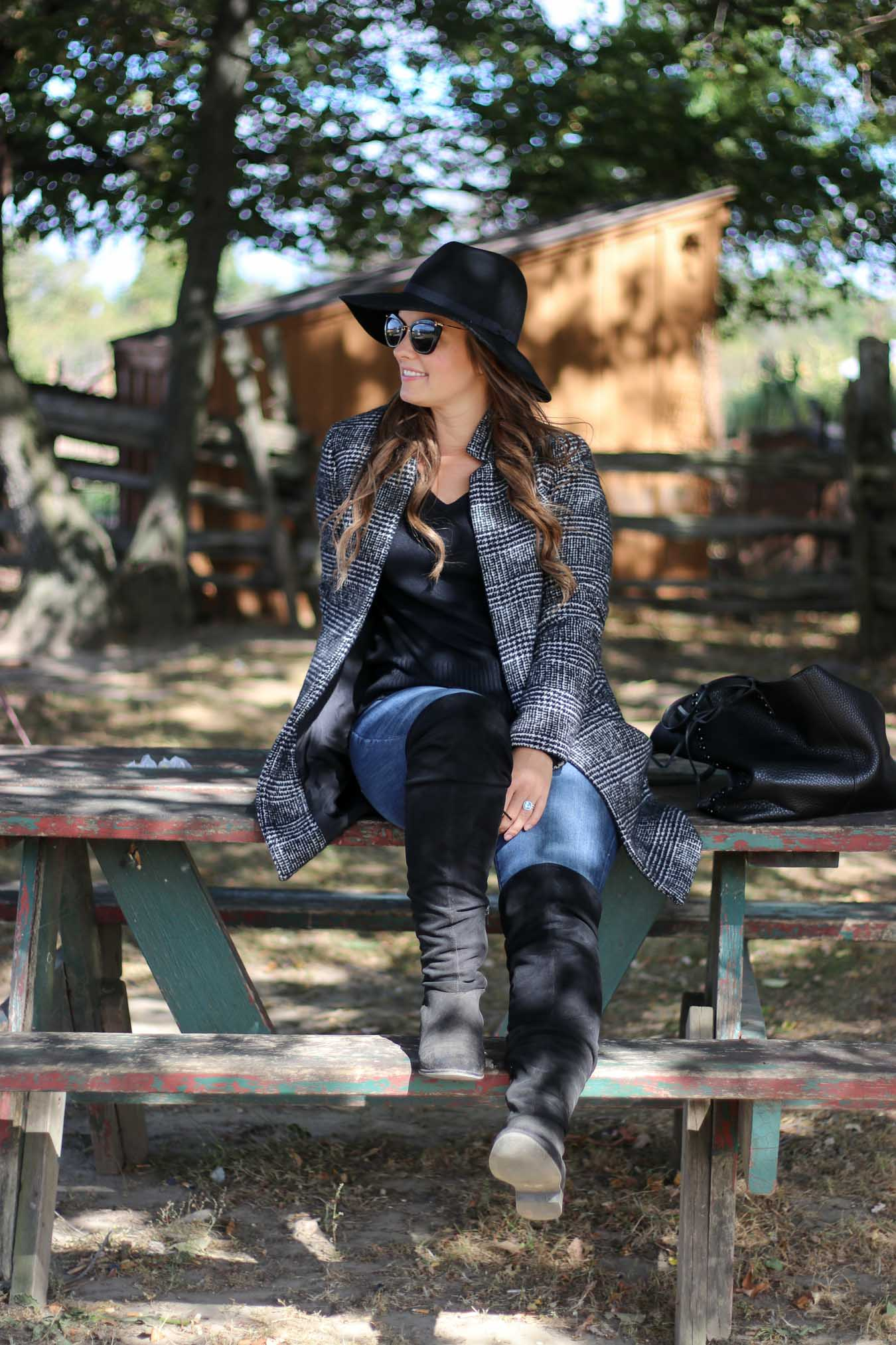 Fall Outfits For Women Plaid Coat Canada   A Side Of Style