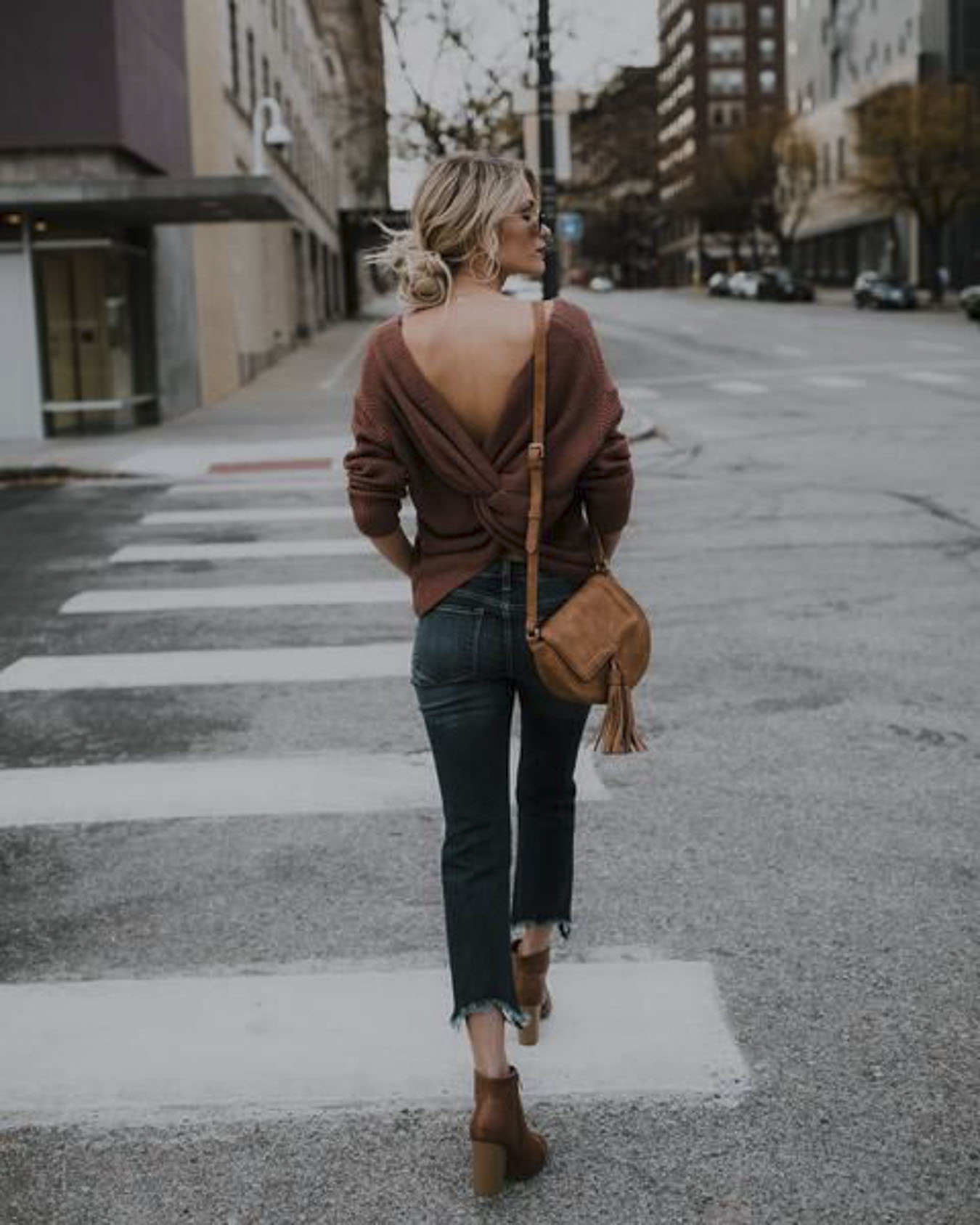 Street Style Inspiration Twisted Sweater A Side Of Vogue