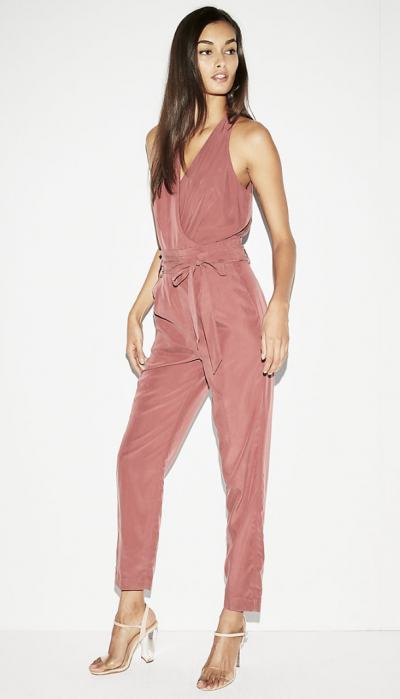 Dusty Pink Silky Jumpsuit