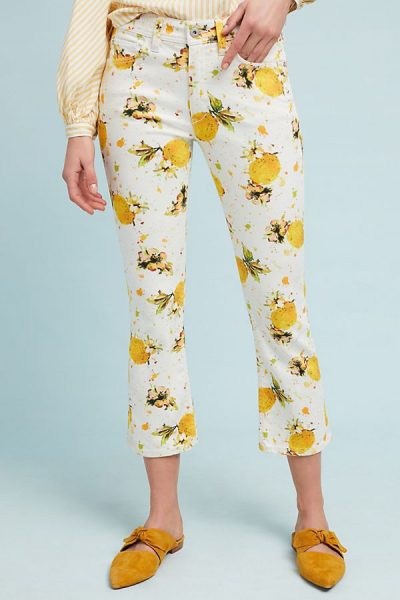 Lemon Print Pants