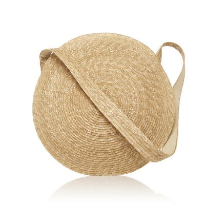 Large Straw Round Circle Bag