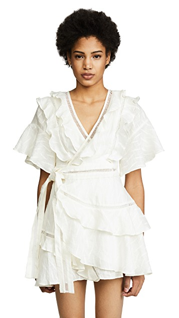 Acler Basque Ruffle Dress