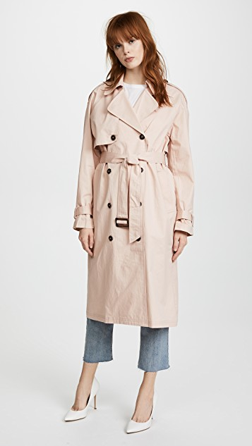 Pink Trench Coat
