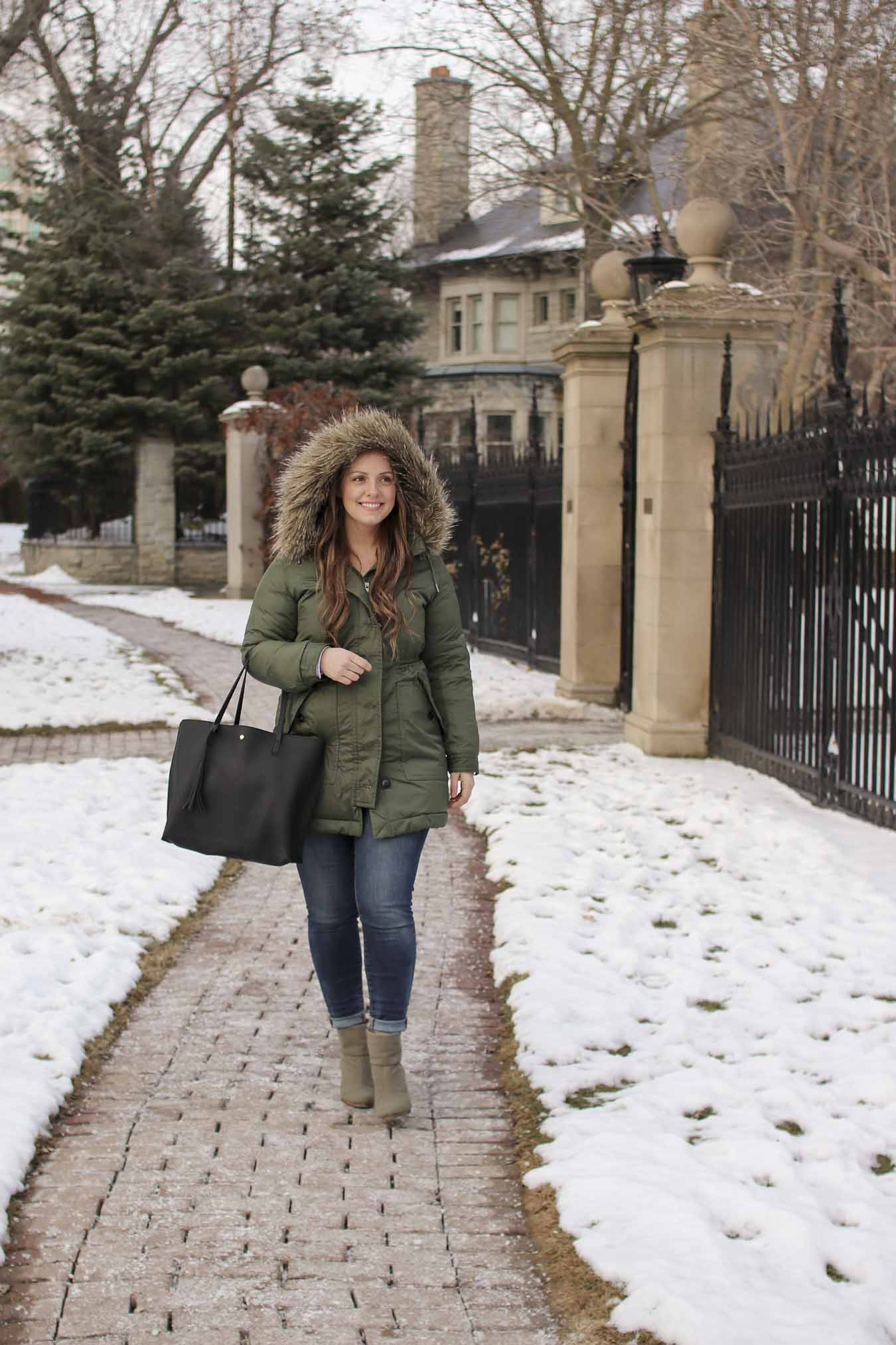 Outfit // Green Parka