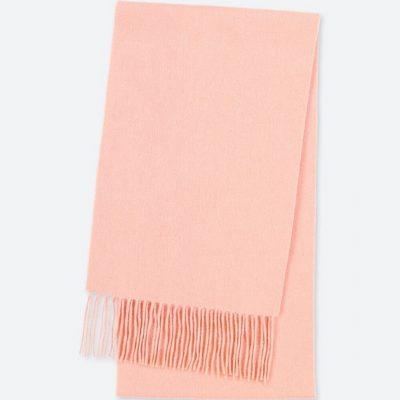 Blush Pink Cashmere Scarf