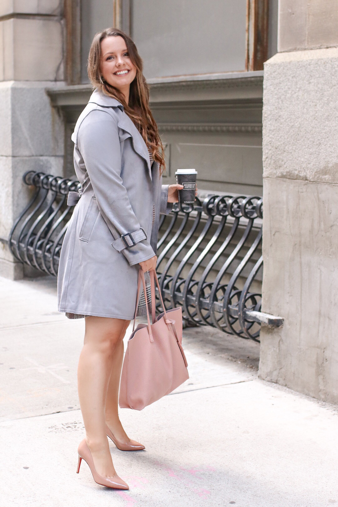 Pink Tote Bag Trench Coat Work Outfits Women A Side Of Style
